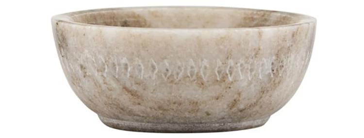 Smuk Marmor Skål Med Mellemøstligt Mønster