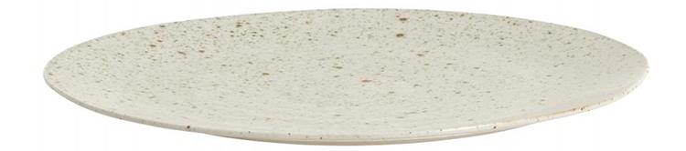 Smuk tallerken i lys keramik