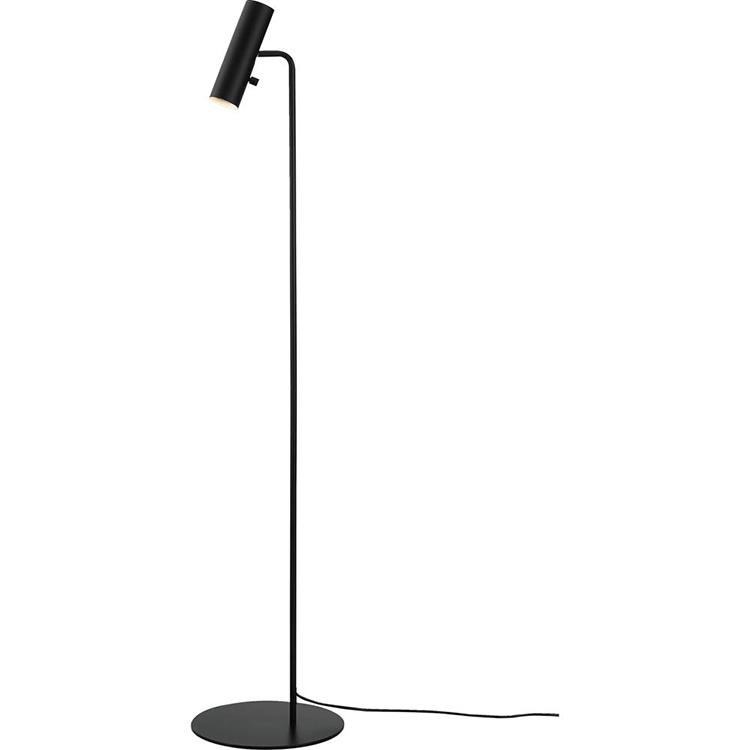 Sort og simpel gulvlampe