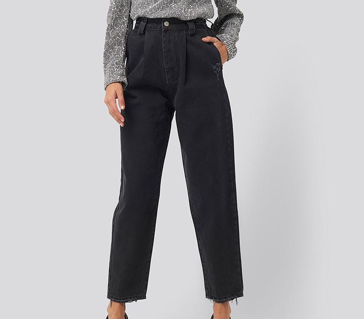 Sorte loos fit bukser