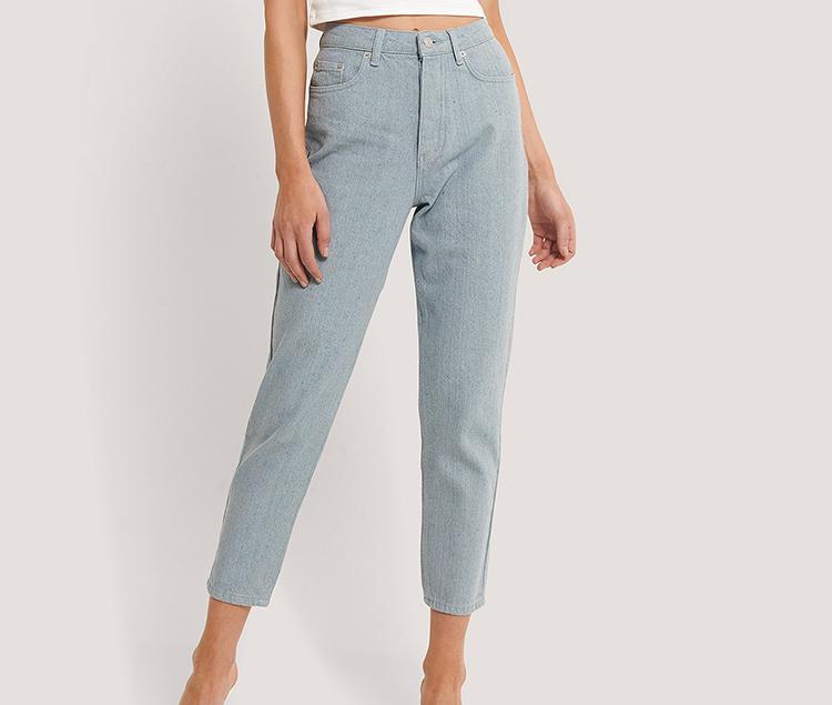 Tynde denim jeans i lyseblå