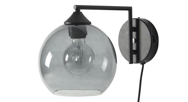 Elegant væglampe med glasskærm