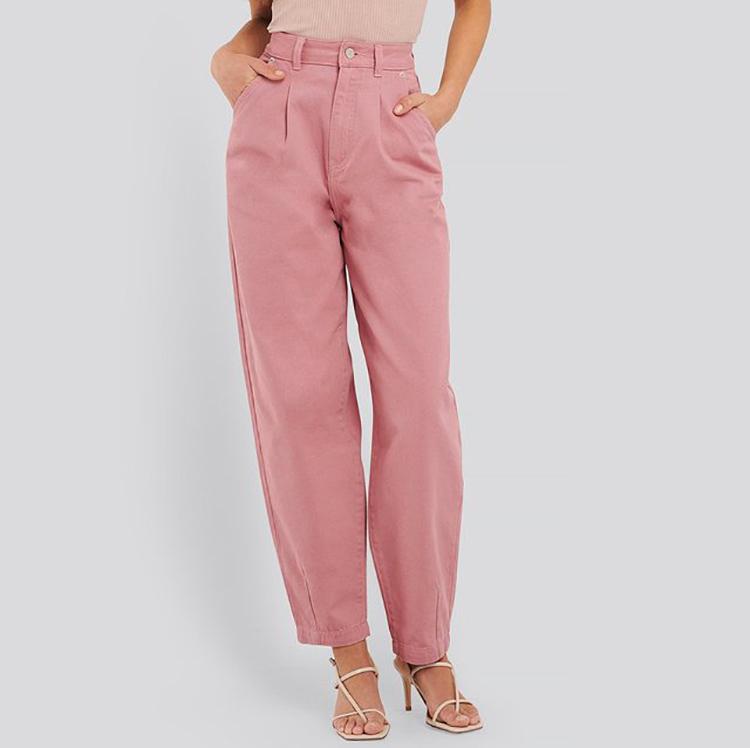 Vide lyserøde jeans til kvinder