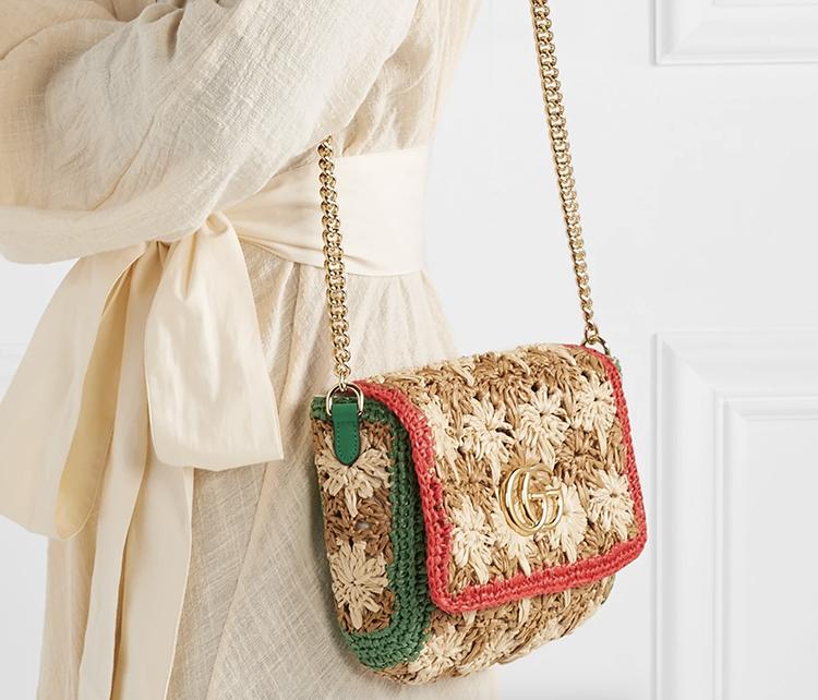 Anderledes og innovativ Gucci taske i flet