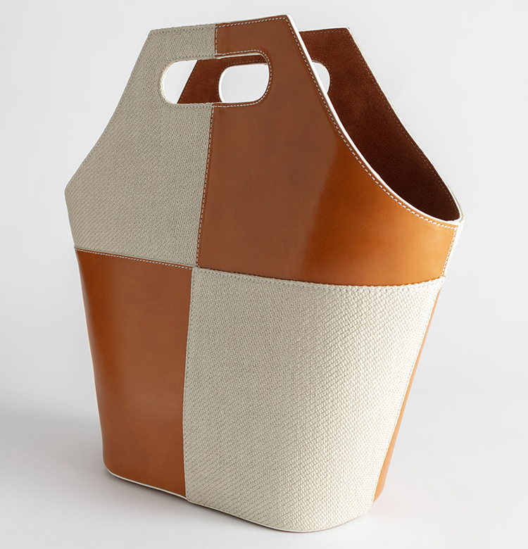 Flot brun patchwork taske