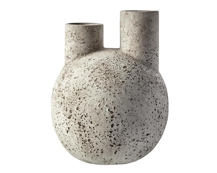Flot grå terracotta vase