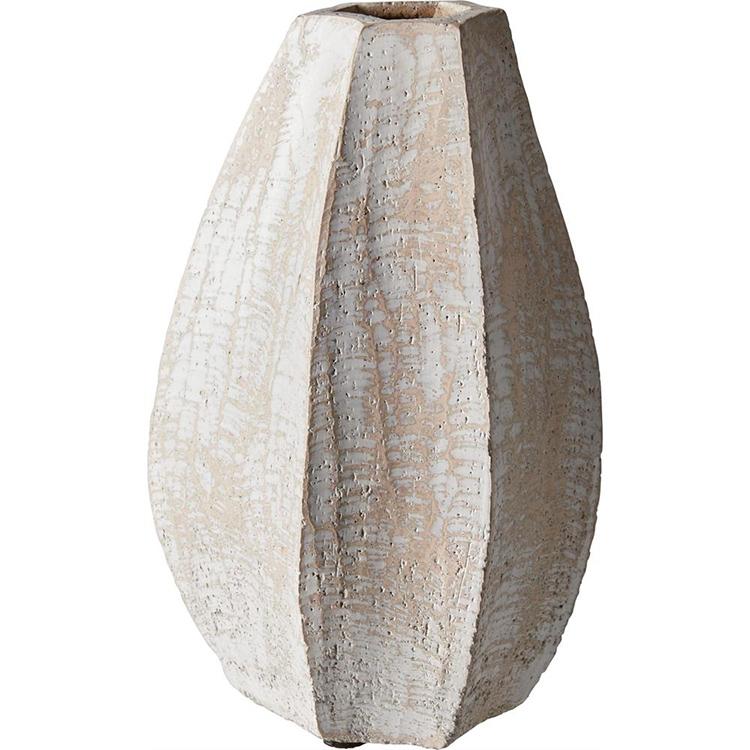 Kunstnerisk hvidbørstet lervase