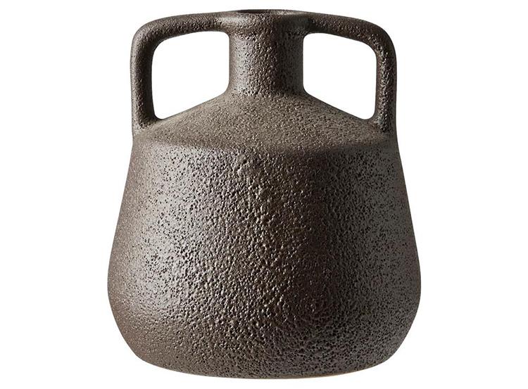 Lille sort vase i ler