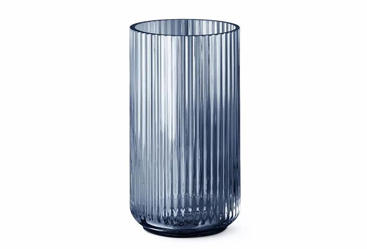 Mørk Lyngby vase i glas