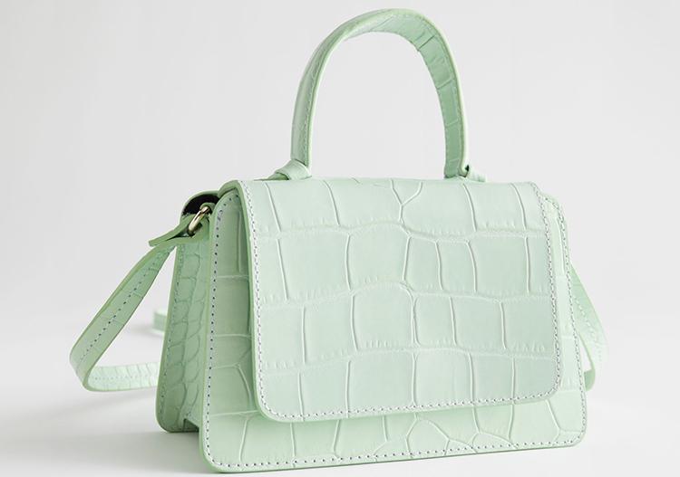 Mintfarvede håndtaske til kvinder