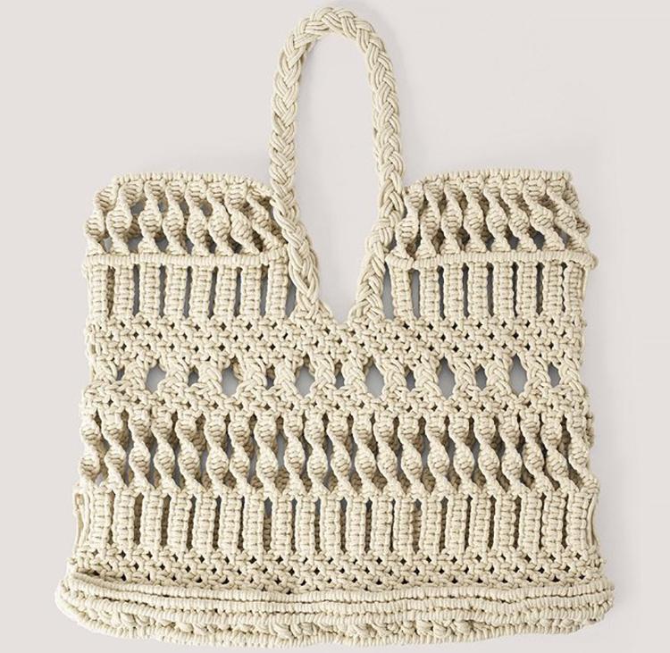 Vegansk strandtaske i flettet og flot design