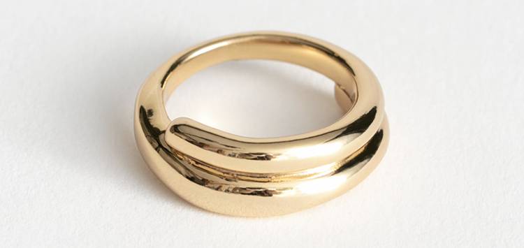Billig spiral ring i kraftigt design