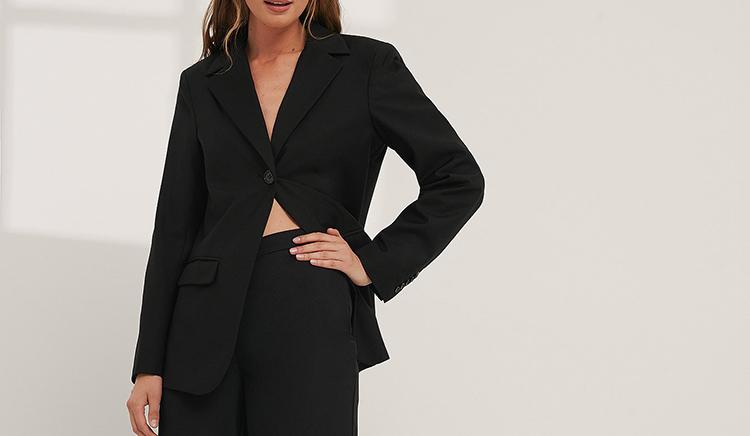 Elegant sort blazer til damer