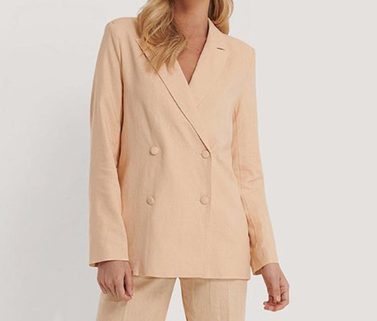 Oversize blazer i sart orange farve