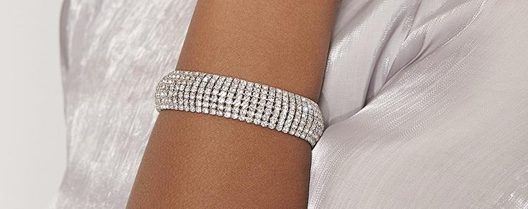 Billigt diamantarmbånd i kraftigt design