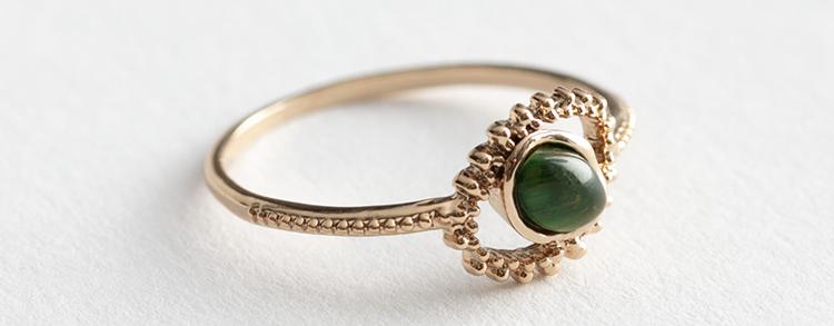Smuk ring i antikt design