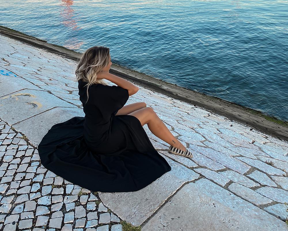 Sort Sommerkjole maxi kjole