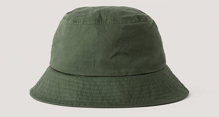 Armygrøn kanvas bøllehat til kvinder