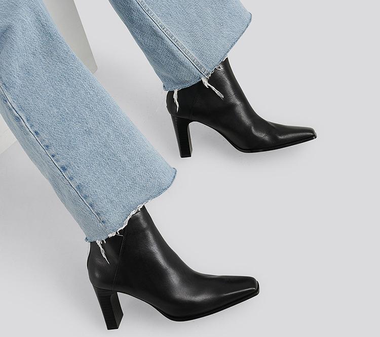 Elegante sorte ankelstøvler til kvinder