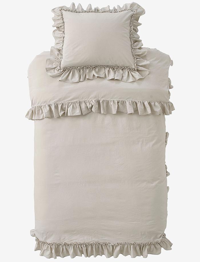 Feminint sengetøj med flotte frynser