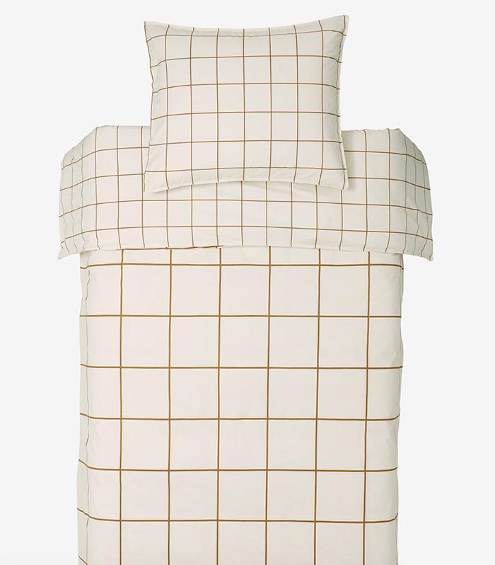 Lækkert sengetøj med to slag tern