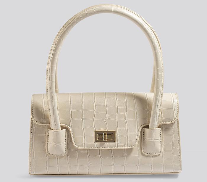 Smuk hvid clutch i Hermes stil<