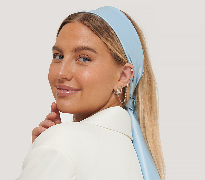 Smukt langt silketørklæde til kvinder