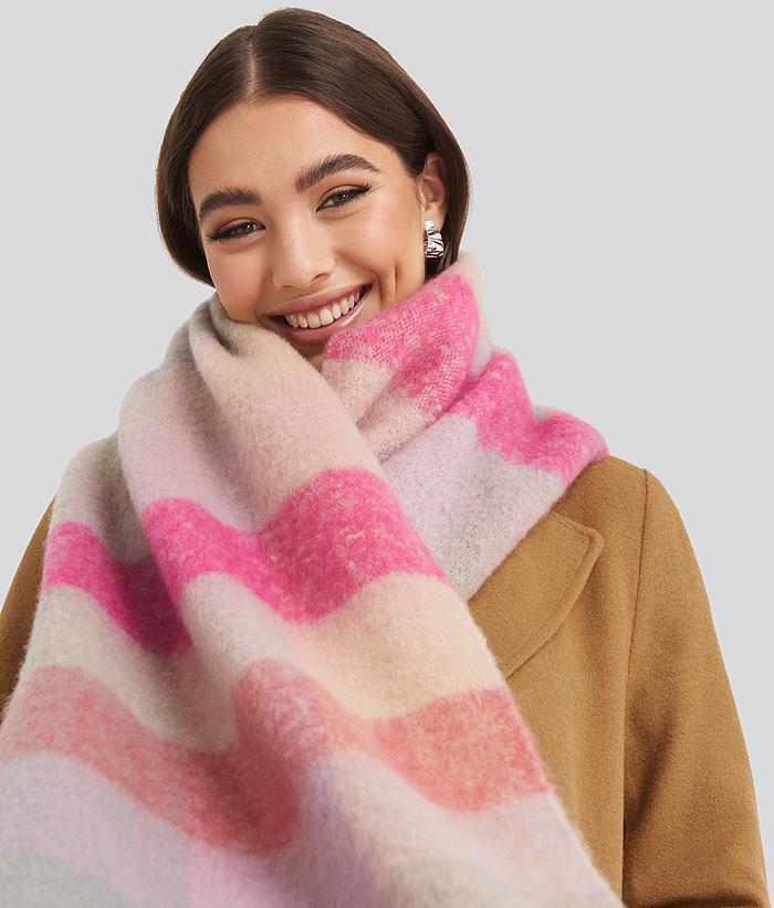 pink Fede tørklæder til kvinder