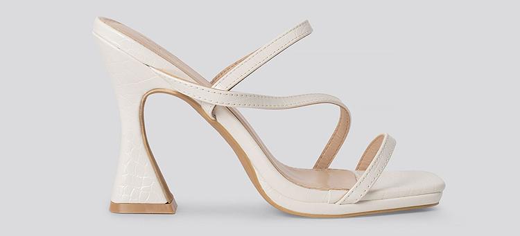 hvide sandaler med hæl