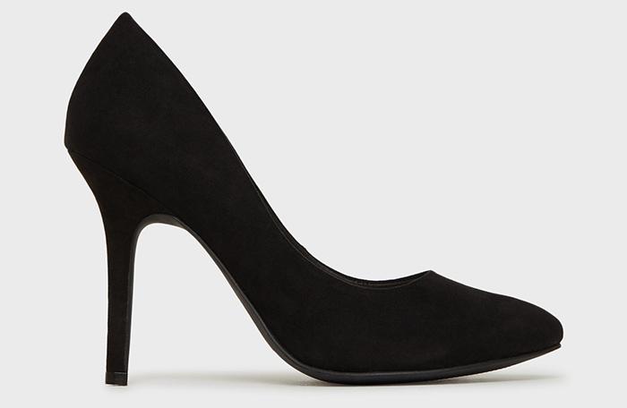 Elegante sorte stiletter i simpelt design