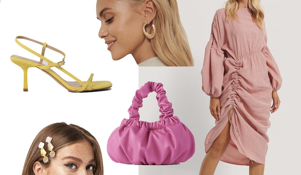 Festtøj i sød og feminin stil med svævende folder