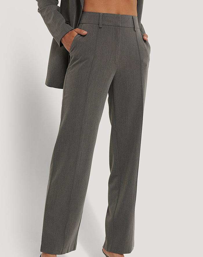 Flotte grå jakkesæt bukser med slids