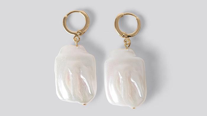 Smukke ørering med rustikke perler