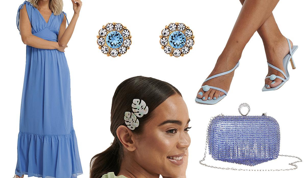 Smukt formelt festtøj til kvinder i lækre blå nuancer