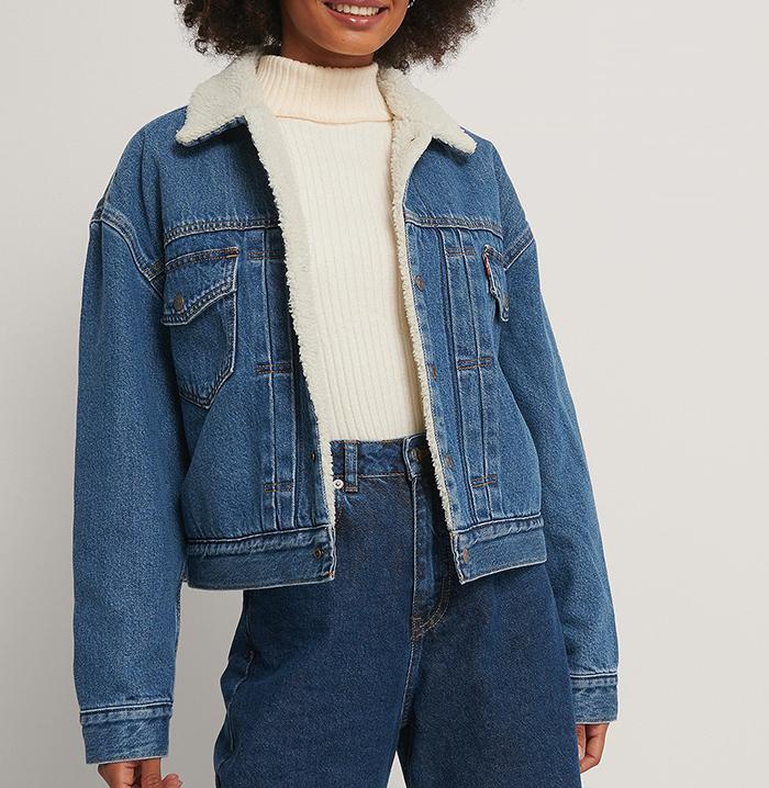 Blå denim jakke fra Levis