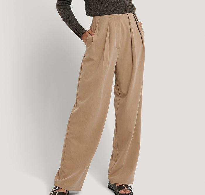 Brede plisseret bukser til kvinder