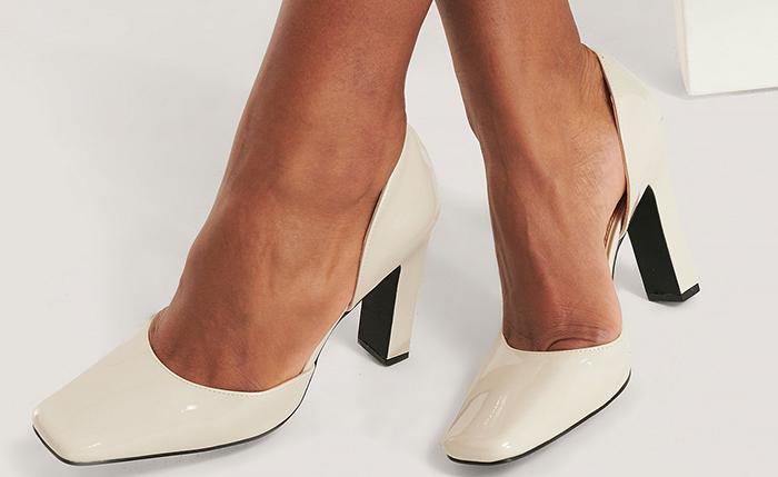 Flotte højhælede sko med fin snude