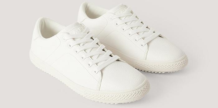 Klassiske tennissko i hvid