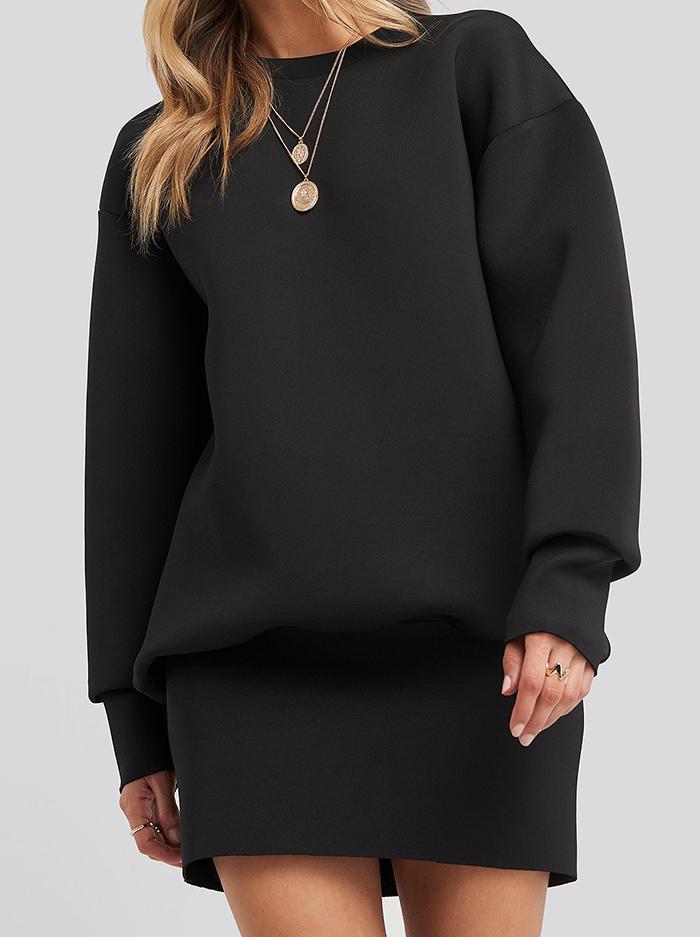 Lækker hverdagskjole i sweatshirt design