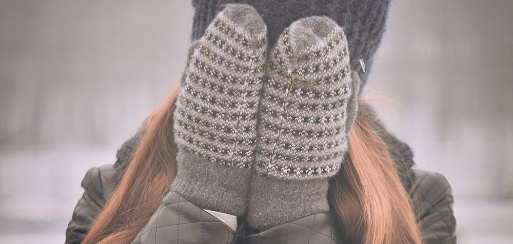 strikkede handsker til damer