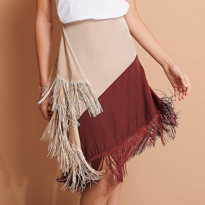Anderledes nederdel med frynser