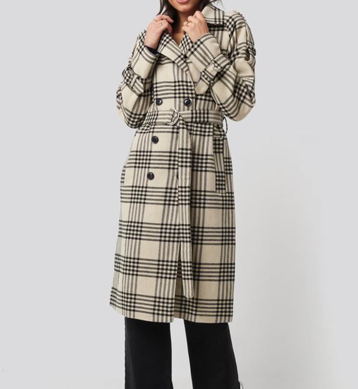 Elegant ternet damefrakke til vinteren
