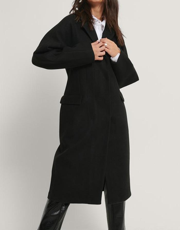 Klassisk sort vinterfrakke til damer