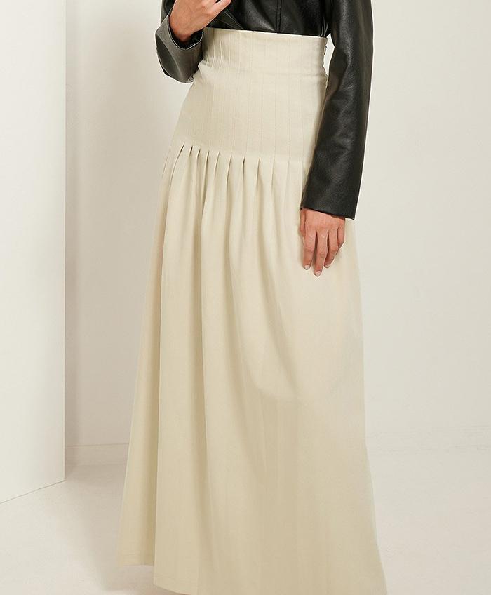 Lang billig nederdel i anderledes design