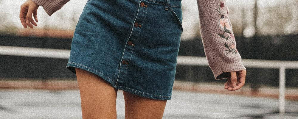 billige nederdele denim