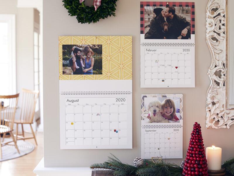 personlige julegaver kalender designs