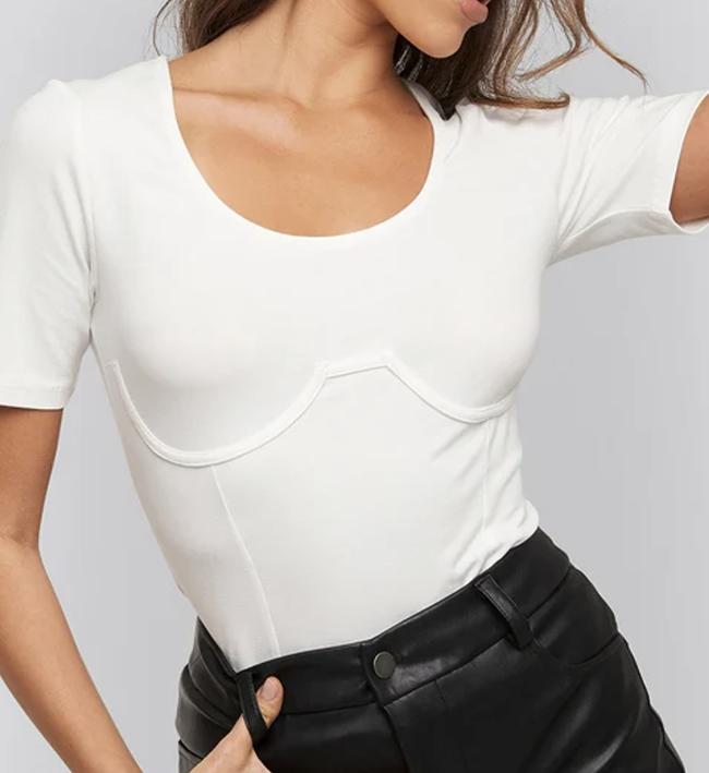 Anderlede hvid t-shirt til damer