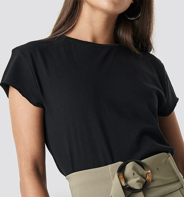 Basic sort dame t-shirt
