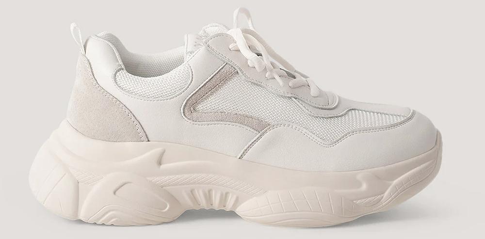 Behagelige og billige hvide dame sneakers