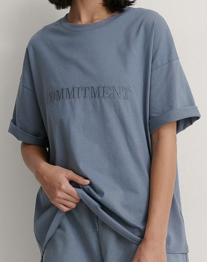 Fed oversized t-shirt til den klimabevidste dame